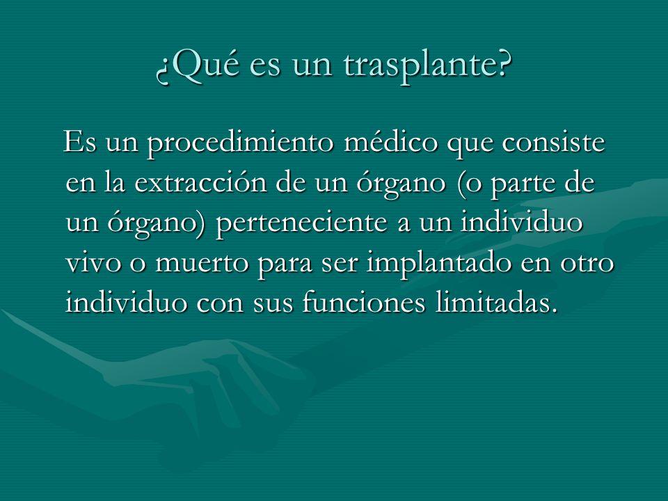 ¿Qué es un trasplante