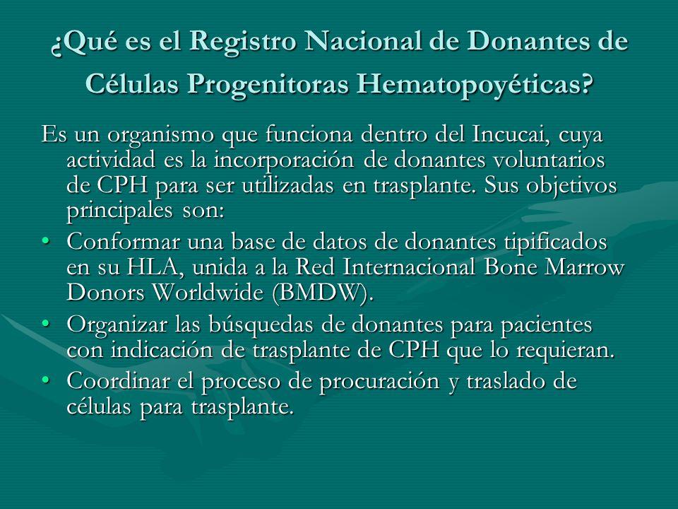 ¿Qué es el Registro Nacional de Donantes de Células Progenitoras Hematopoyéticas