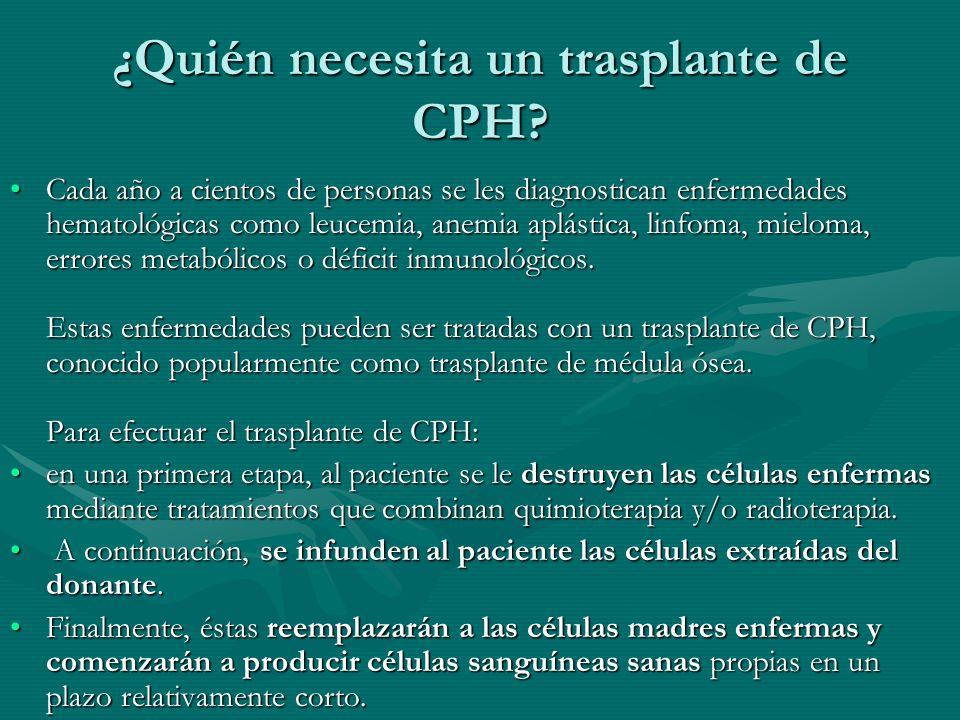 ¿Quién necesita un trasplante de CPH