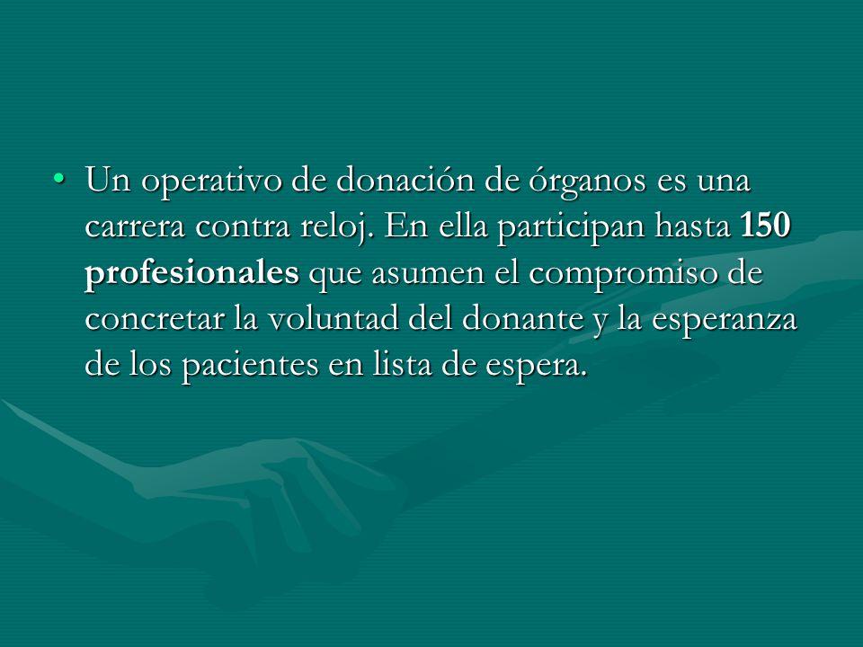 Un operativo de donación de órganos es una carrera contra reloj