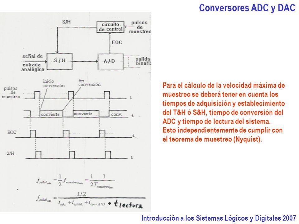 Conversores ADC y DAC Para el cálculo de la velocidad máxima de