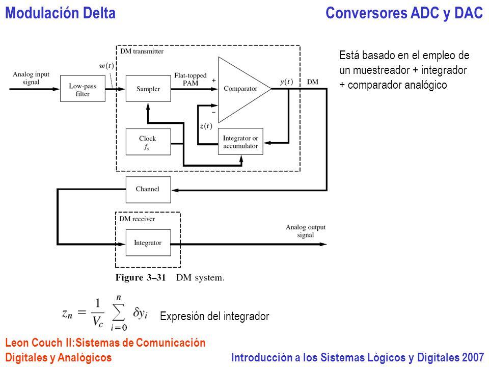 Modulación Delta Conversores ADC y DAC Está basado en el empleo de