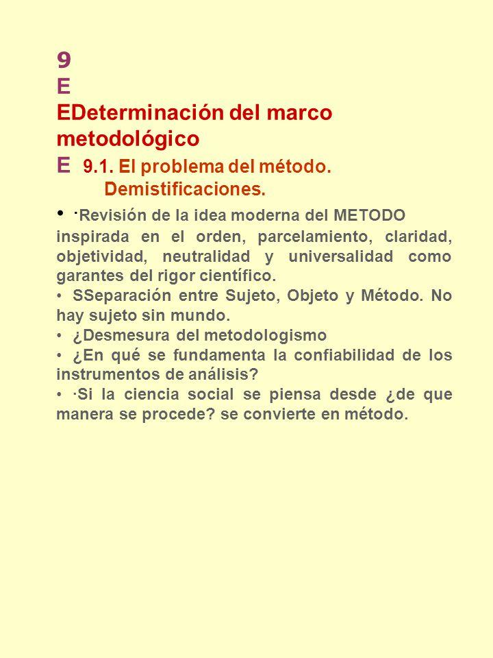 EDeterminación del marco metodológico