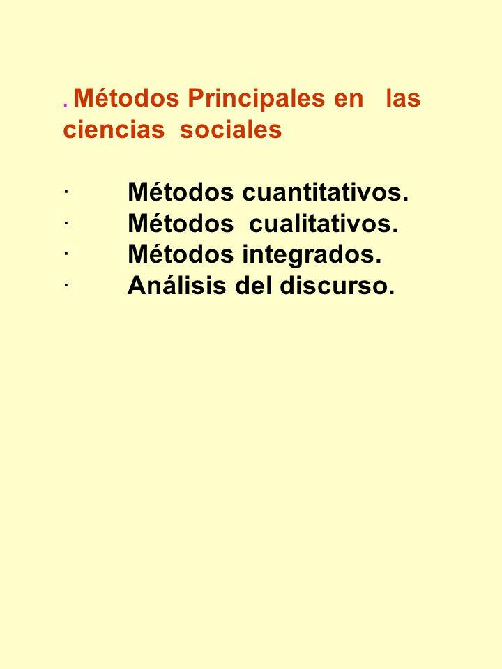 · Métodos cuantitativos. · Métodos cualitativos. · Métodos integrados.