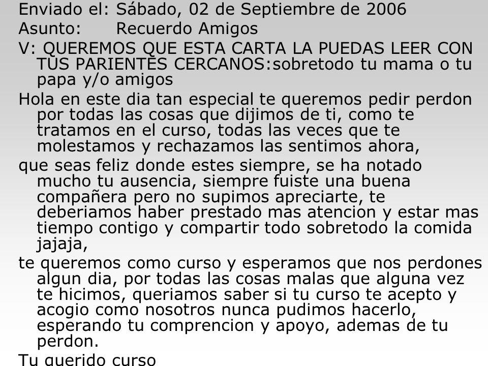 Enviado el: Sábado, 02 de Septiembre de 2006