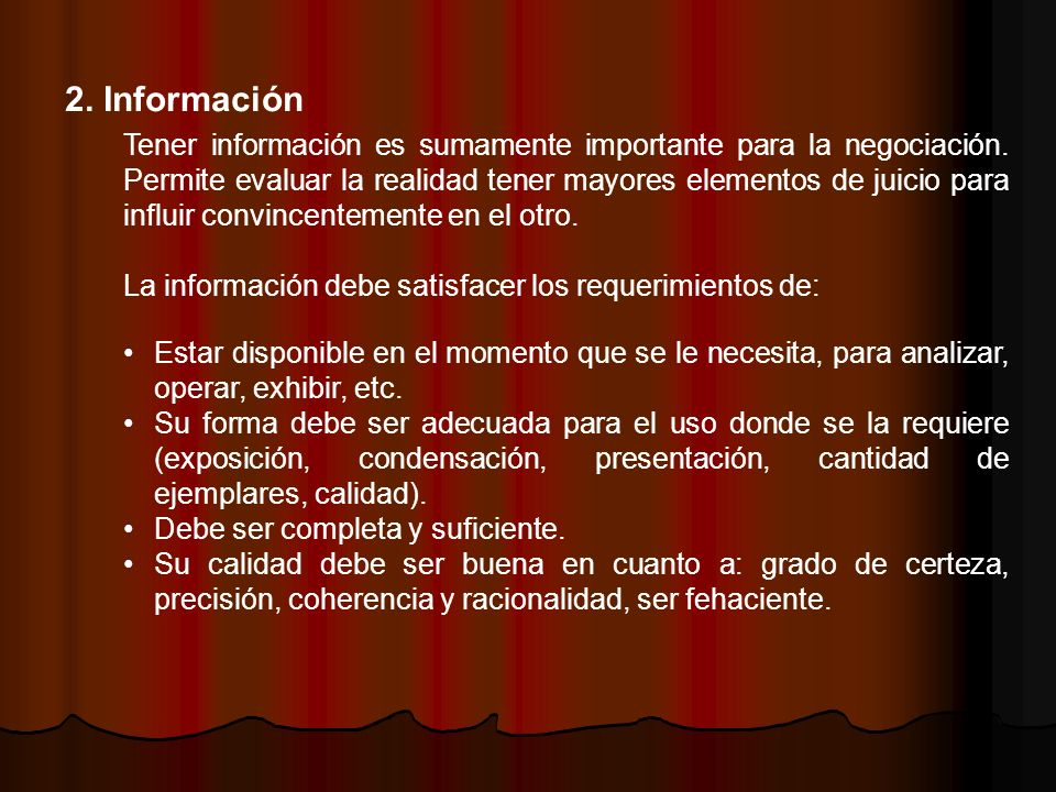 2. Información