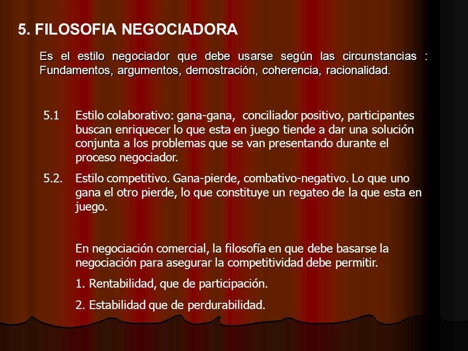 5. FILOSOFIA NEGOCIADORA