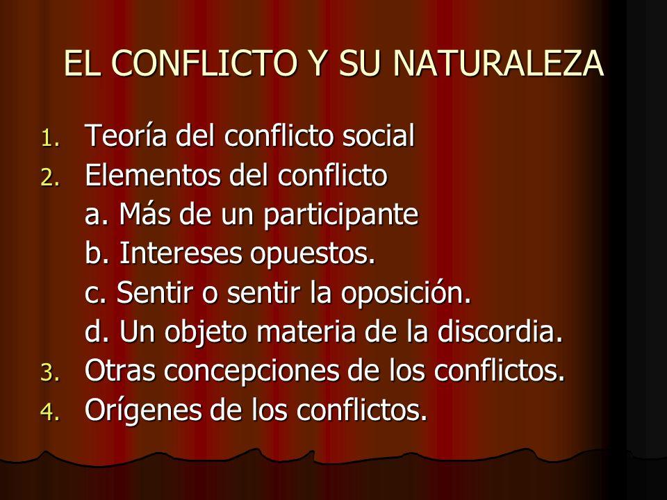 EL CONFLICTO Y SU NATURALEZA