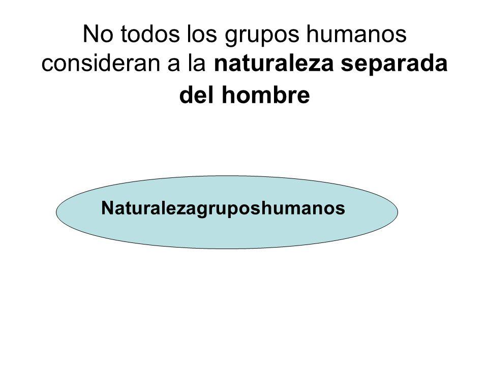No todos los grupos humanos consideran a la naturaleza separada del hombre