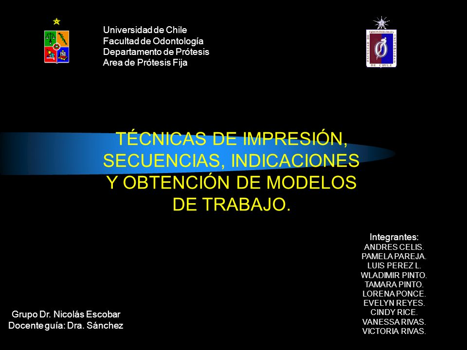SECUENCIAS, INDICACIONES Y OBTENCIÓN DE MODELOS DE TRABAJO.