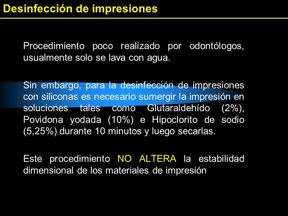 Desinfección de impresiones