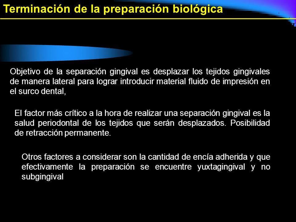 Terminación de la preparación biológica