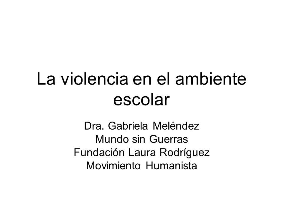 La violencia en el ambiente escolar