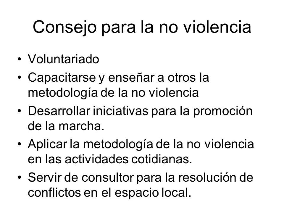 Consejo para la no violencia