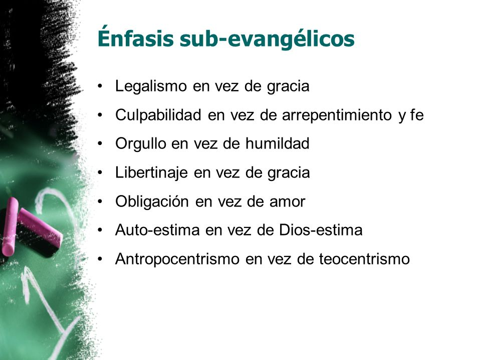 Énfasis sub-evangélicos