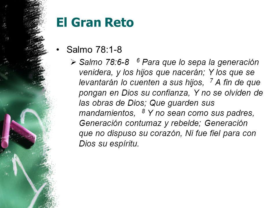 El Gran Reto Salmo 78:1-8.