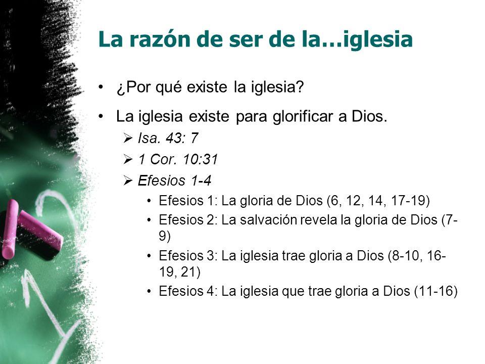 La razón de ser de la…iglesia