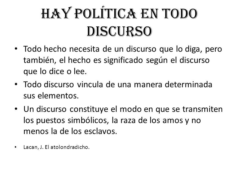 Hay política en todo discurso