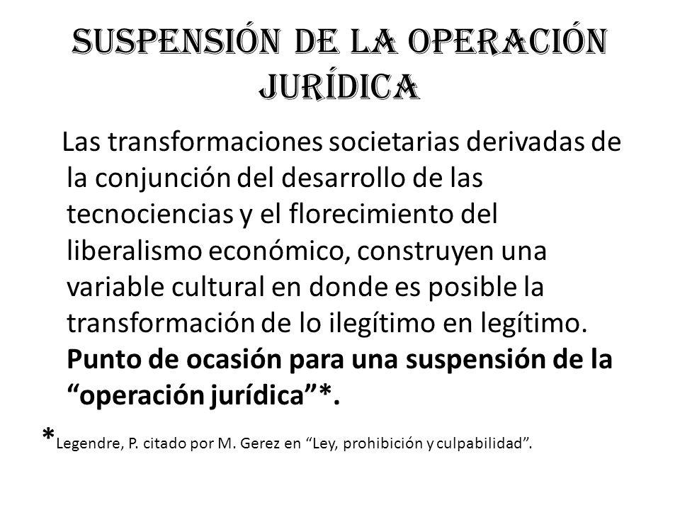 Suspensión de la operación jurídica