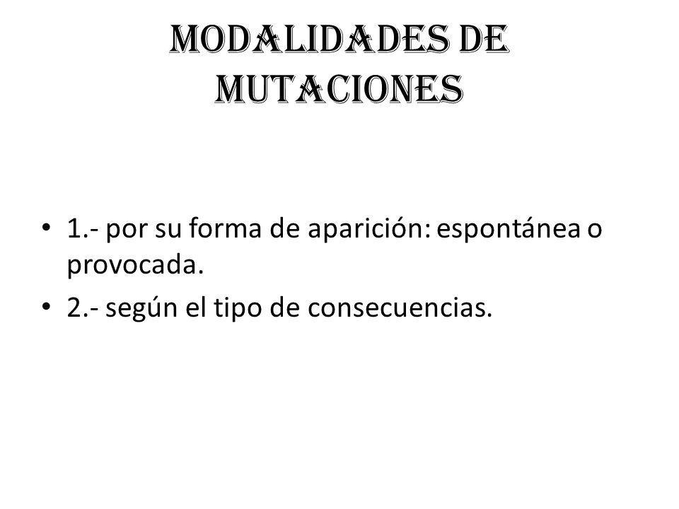 Modalidades de mutaciones
