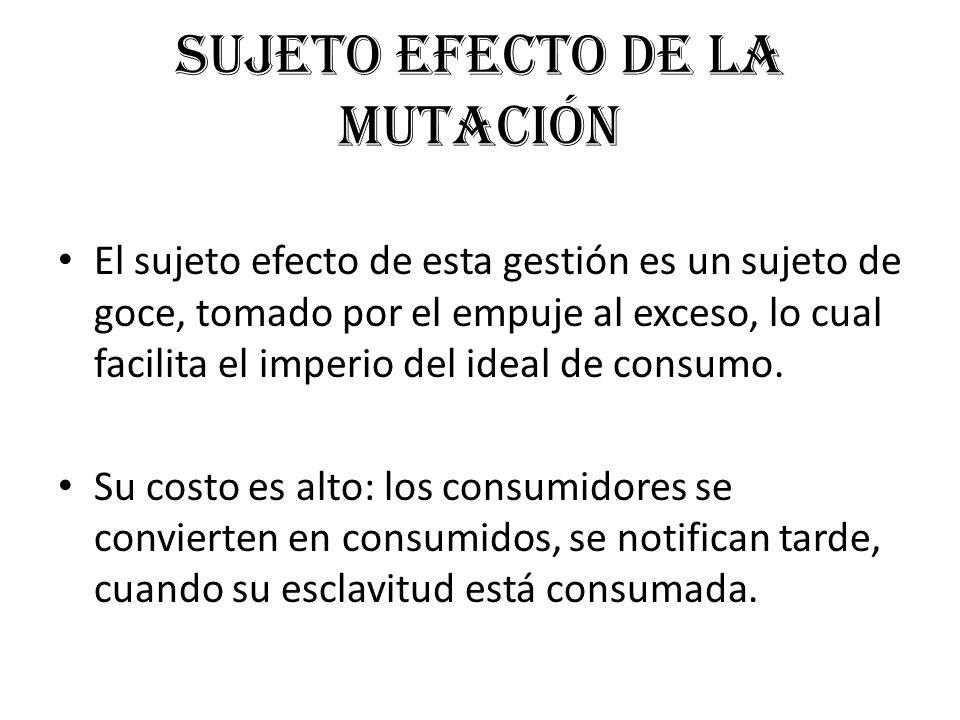 Sujeto efecto de la mutación
