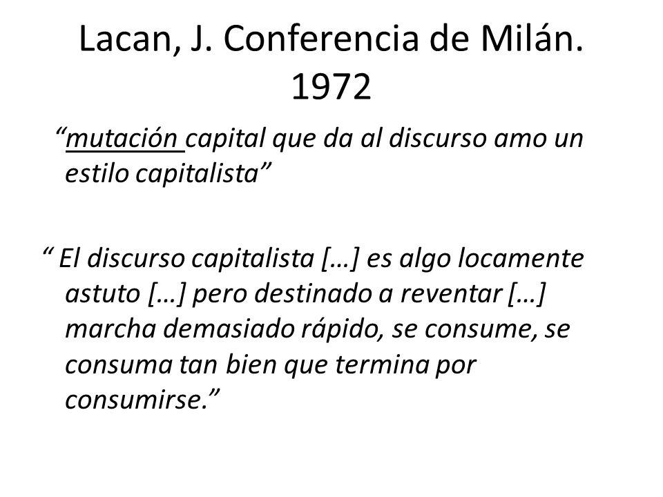Lacan, J. Conferencia de Milán. 1972