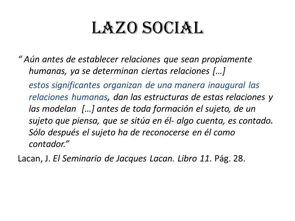 LAZO SOCIAL