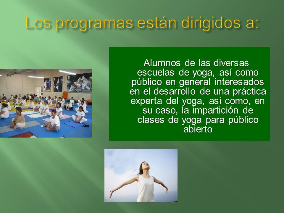 Los programas están dirigidos a: