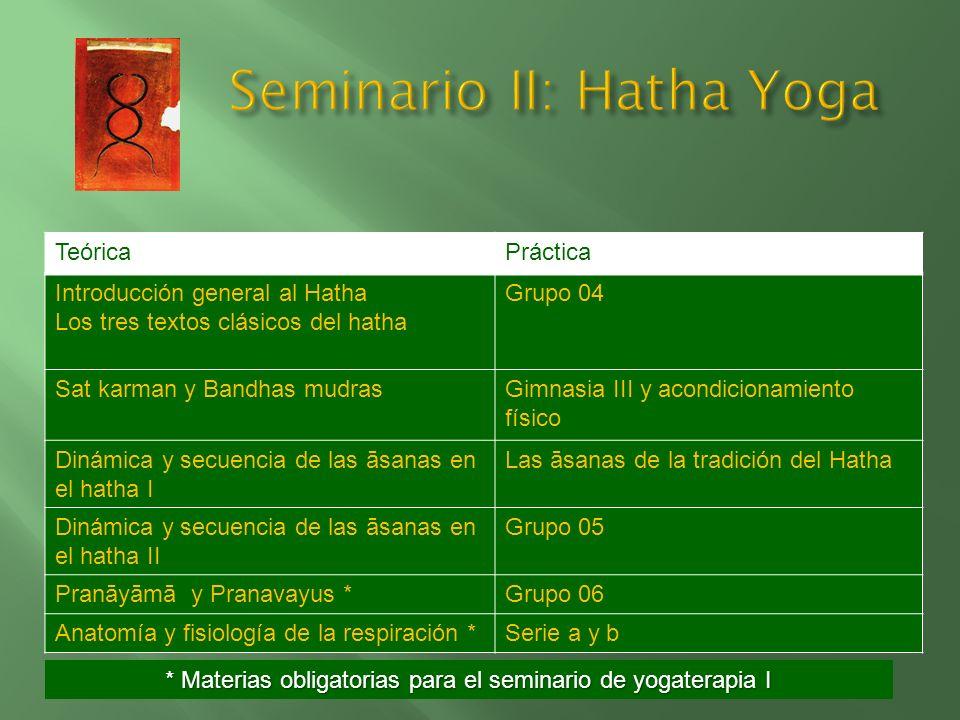 Seminario II: Hatha Yoga