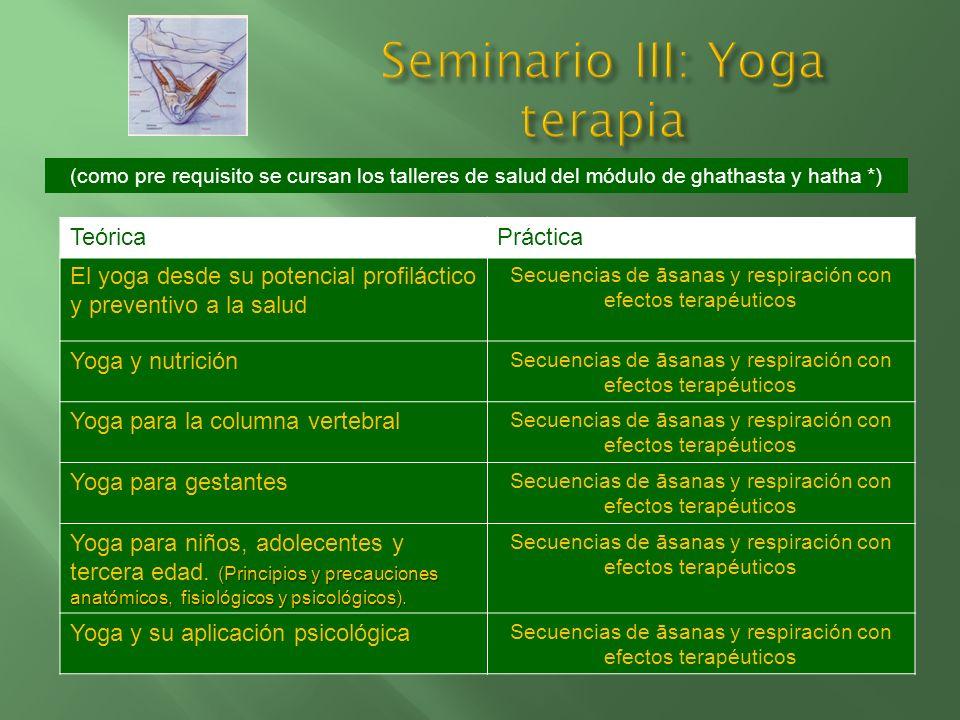 Seminario III: Yoga terapia