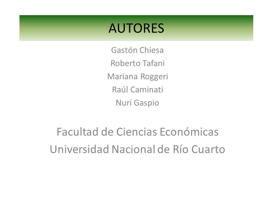 AUTORES Facultad de Ciencias Económicas