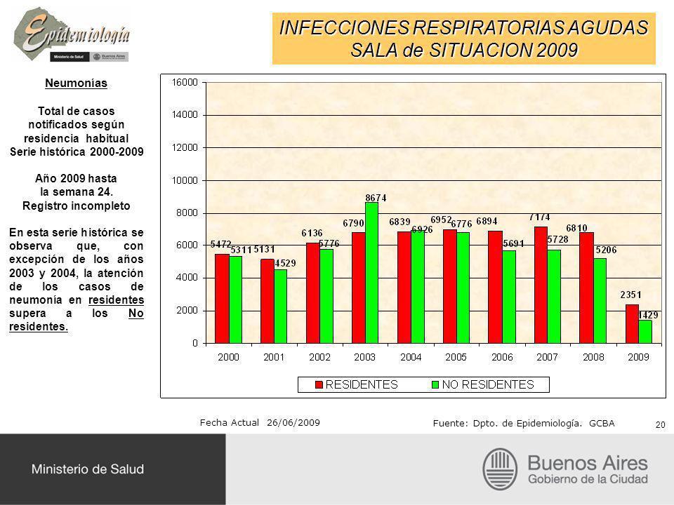Total de casos notificados según residencia habitual