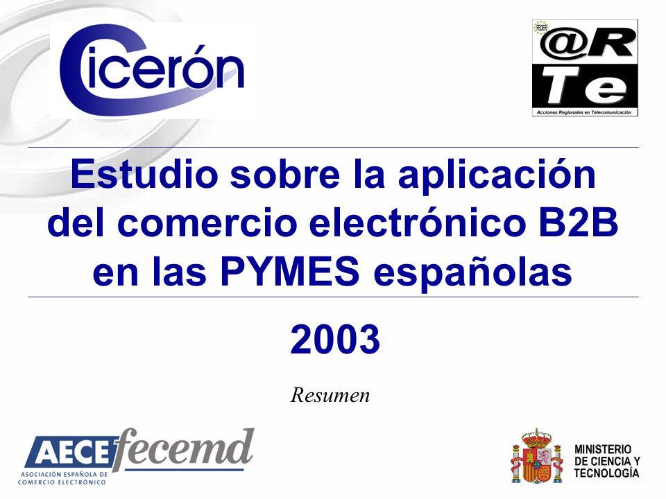 Estudio sobre la aplicación del comercio electrónico B2B en las PYMES españolas