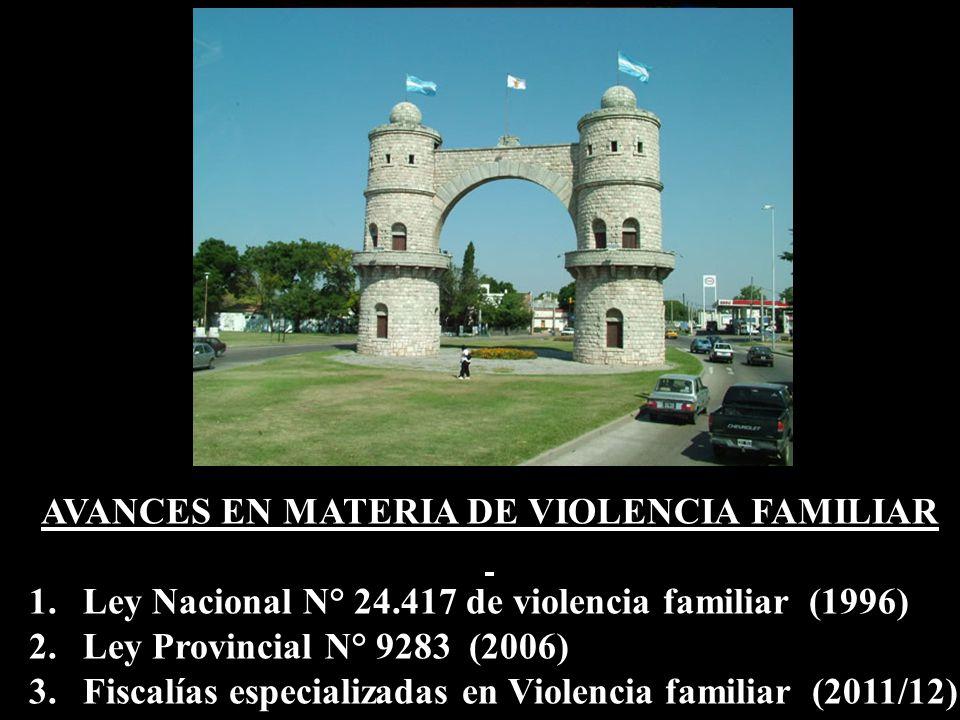 AVANCES EN MATERIA DE VIOLENCIA FAMILIAR