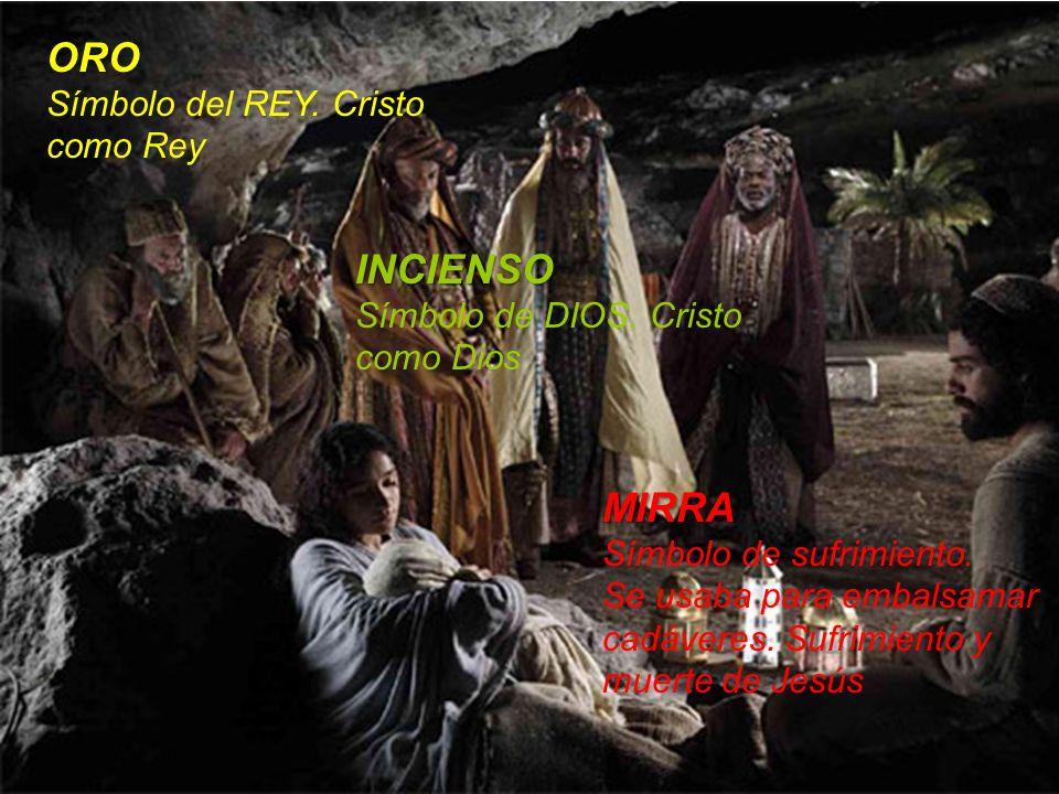 ORO INCIENSO MIRRA Símbolo del REY. Cristo como Rey