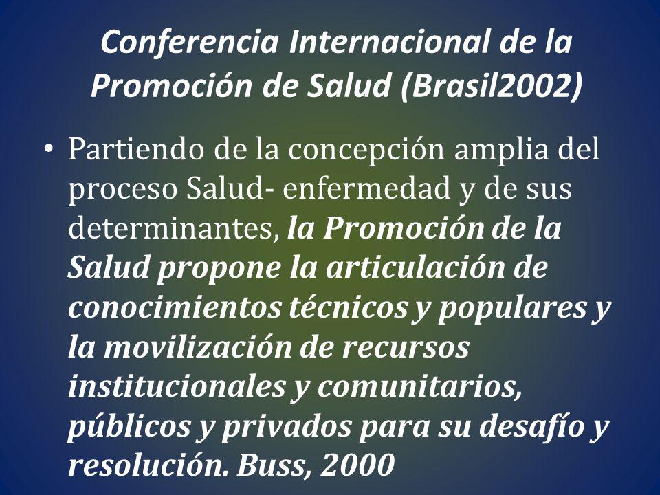 Conferencia Internacional de la Promoción de Salud (Brasil2002)