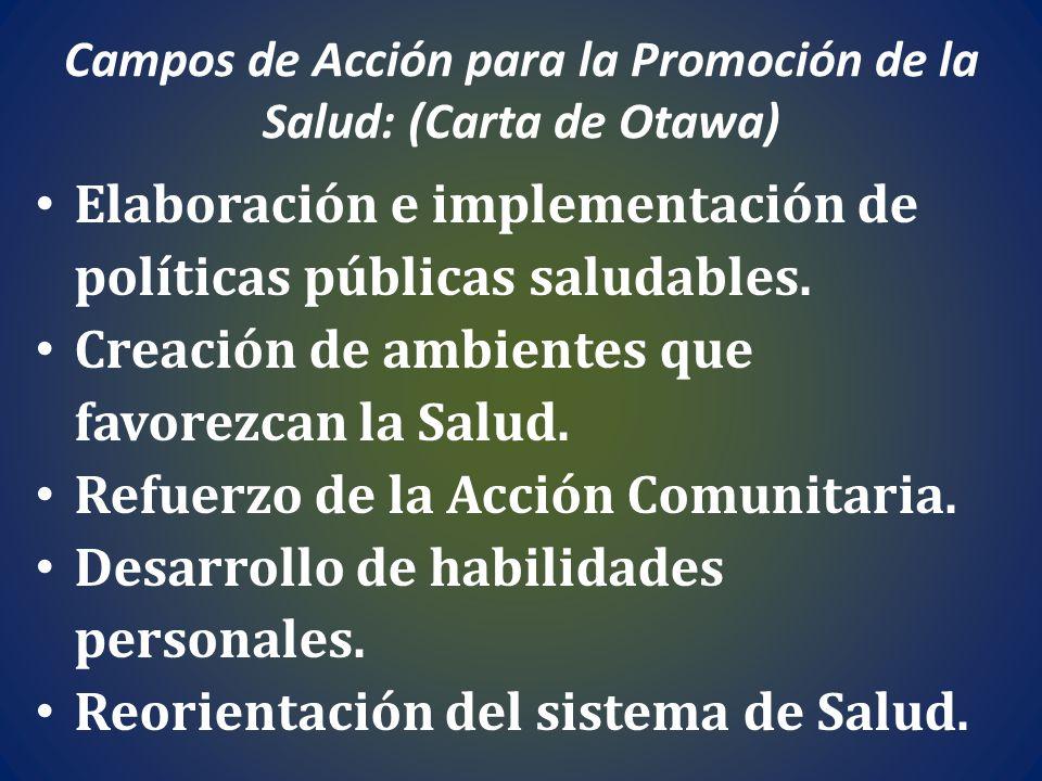 Campos de Acción para la Promoción de la Salud: (Carta de Otawa)