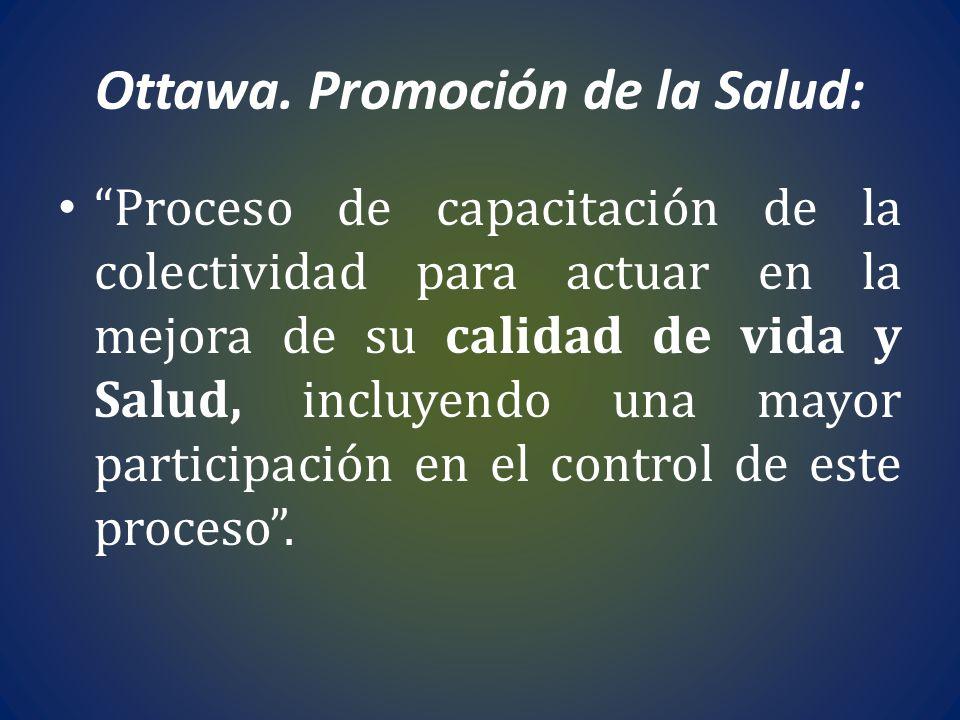 Ottawa. Promoción de la Salud: