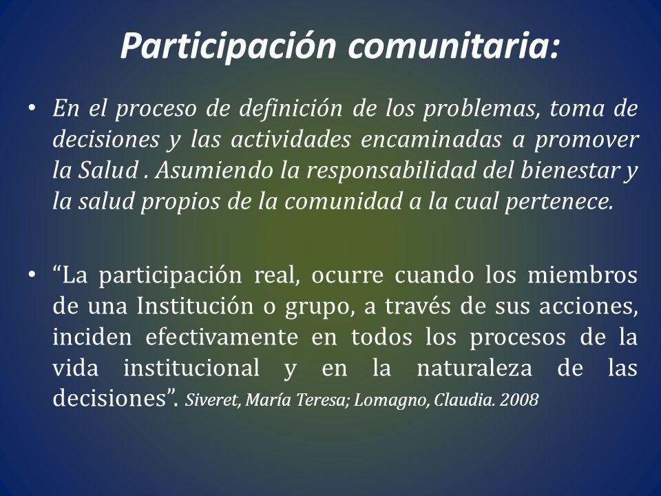 Participación comunitaria: