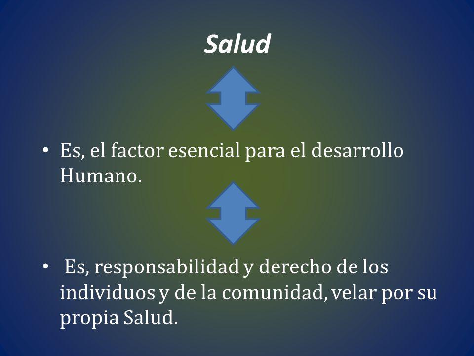 Salud Es, el factor esencial para el desarrollo Humano.