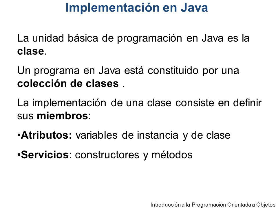 Implementación en Java