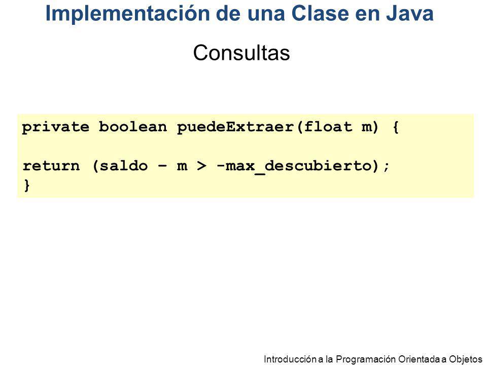 Implementación de una Clase en Java