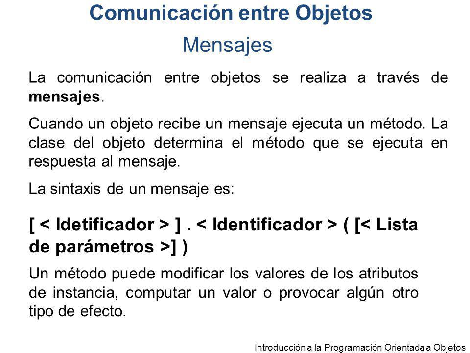 Comunicación entre Objetos