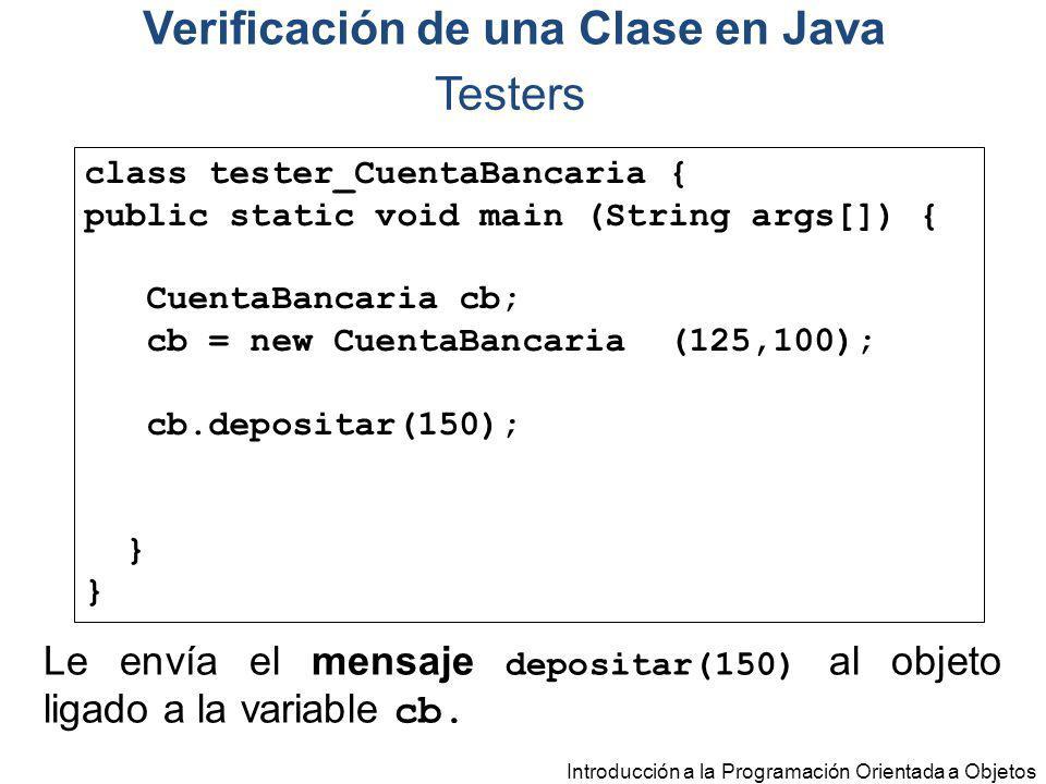 Verificación de una Clase en Java