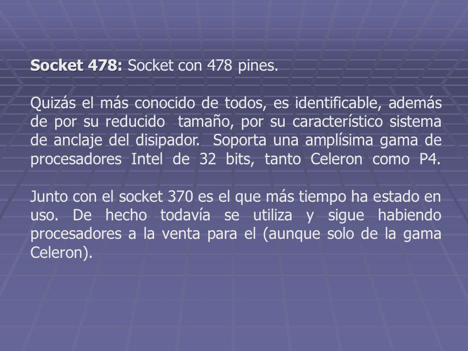 Socket 478: Socket con 478 pines.