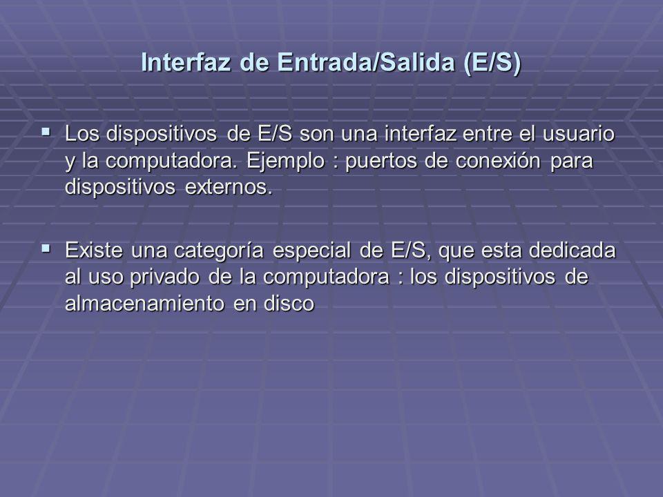 Interfaz de Entrada/Salida (E/S)