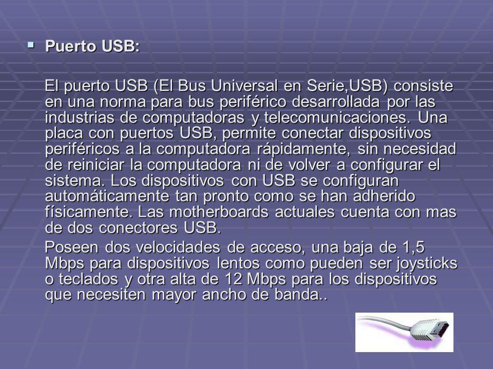 Puerto USB: