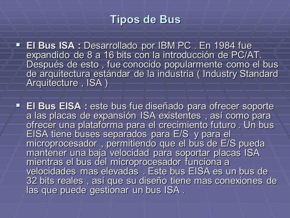 Tipos de Bus