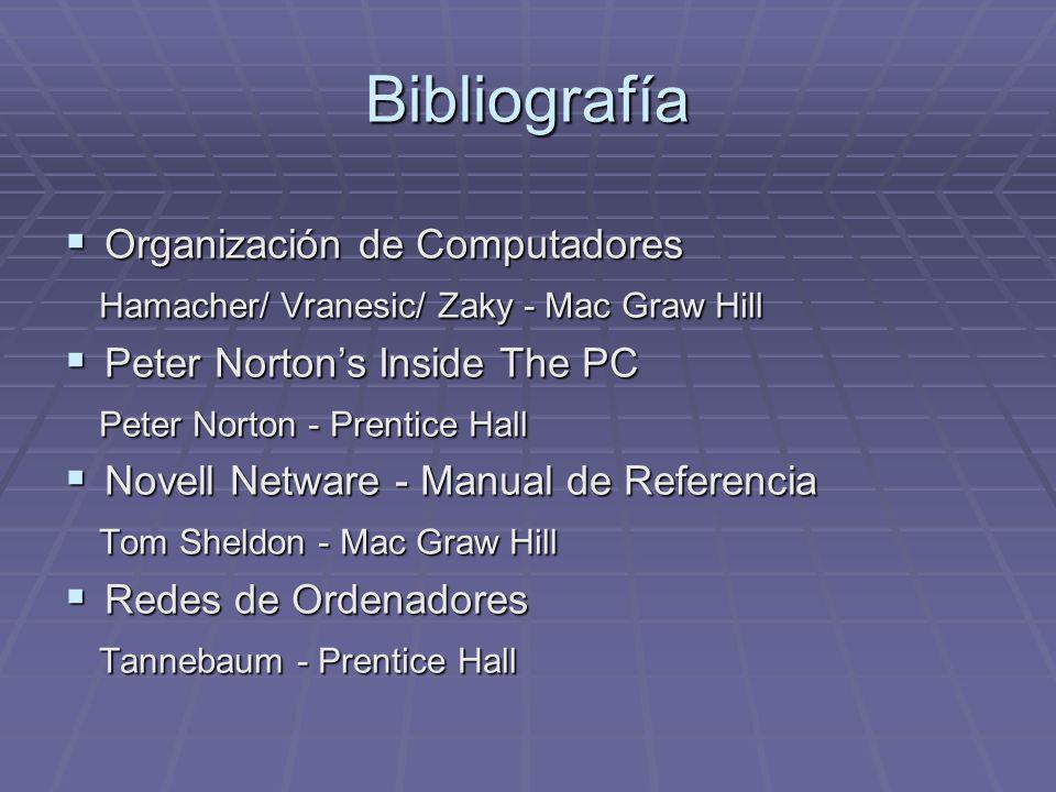 Bibliografía Organización de Computadores