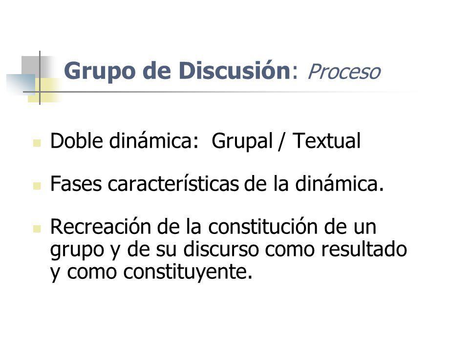 Grupo de Discusión: Proceso
